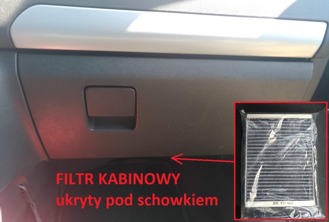 wymiana filtra kabinowego zafira b