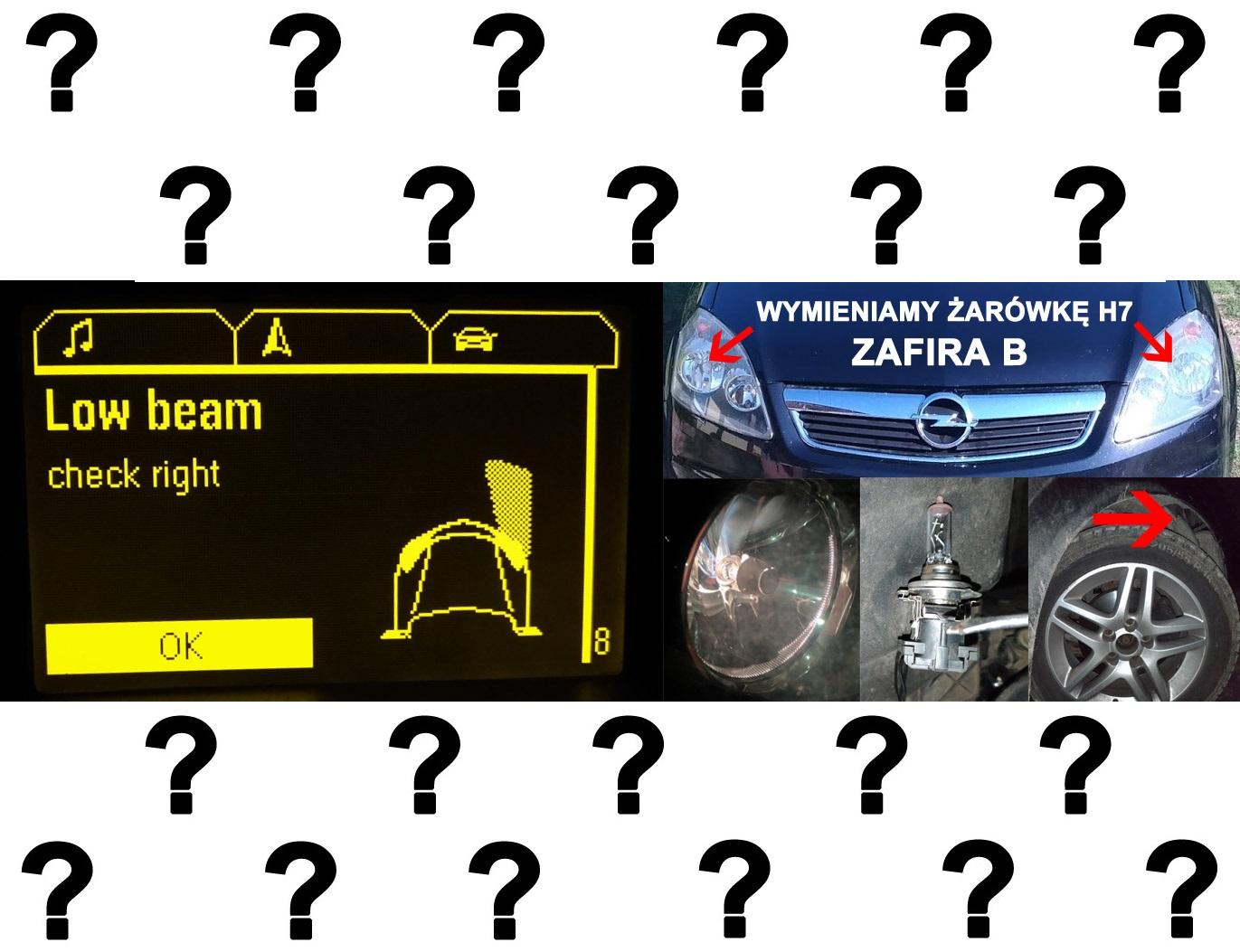 Jak wymienić żarówkę H7 Opel Zafira B / Astra h Jeśli żarówka H7 (światła mijania)